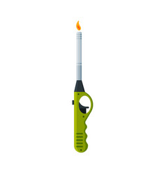 Stove kitchen lighter with fire flammable vector