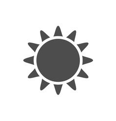 Sun icon Gray vector image