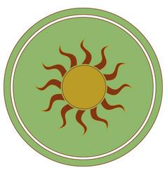 sun stylized image icon vector image