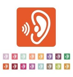 The ear icon Sense organ and hear understand vector image