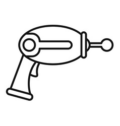 Toy blaster icon outline style vector
