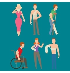 Trauma accident and human body safety vector image vector image