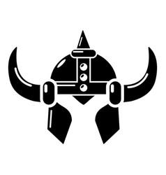 Viking helmet knight icon simple black style vector