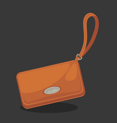 wallets with money shopping purse cas vector image