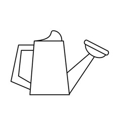 Watering can garden tool thin line vector