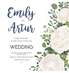 wedding invitation invite card design with vector image vector image