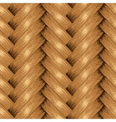Wicker Seamless Background Wooden Basket Textured vector image