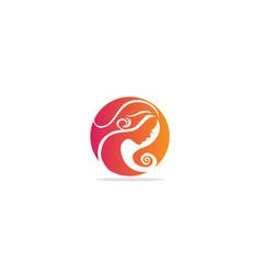 woman beauty hair salon logo vector image