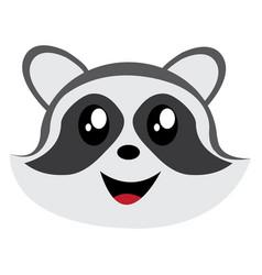 avatar of raccoon vector image