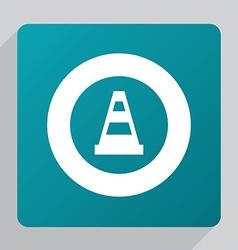 flat construction cone icon vector image