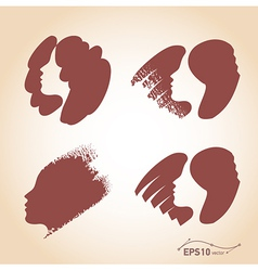 hair set vector image vector image