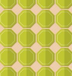 Retro fold green octagons vector image
