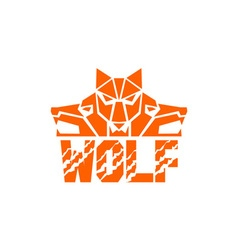 Wolf Pack Head Retro vector image vector image