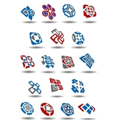 Abstract geometric icons and symbols set vector image vector image