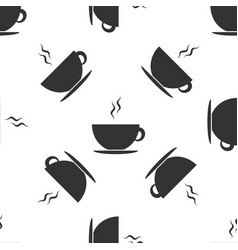 coffee cup icon seamless pattern on white vector image vector image