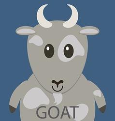 Cute grey goat cartoon flat icon avatar vector image vector image
