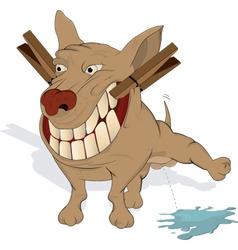 very cheerful doggie vector image