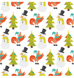 cartoon rooster seamless pattern vector image
