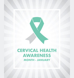 cervical cancer awareness vector image