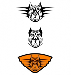 guard dog symbols vector image