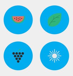 set of simple horticulture icons elements sheet vector image