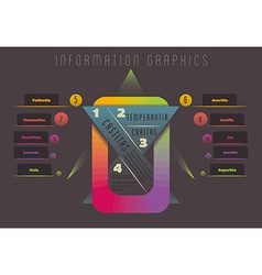 Abstract colourful geometrical infographics vector image