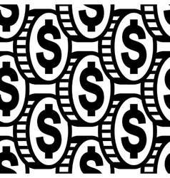 Dollar icon sign seamless pattern vector image