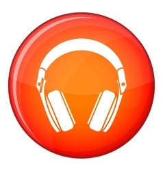 Headphones icon flat style vector image vector image