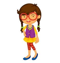 School girl on white vector image