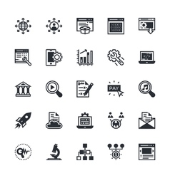 SEO and Marketing Colored Icons 5 vector image