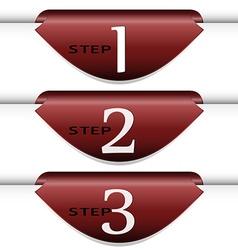 Set of arrows stickers vector image vector image