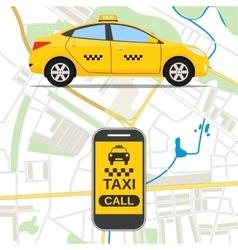 Taxi mobile app concept vector