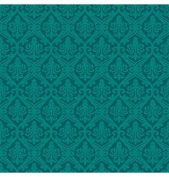 Turquoise seamless royal background vector image