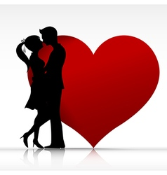 002 Man and woman couper kissing with love vector image