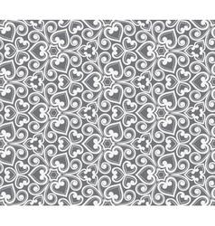 Abstract grey seamless hand-drawn pattern vector