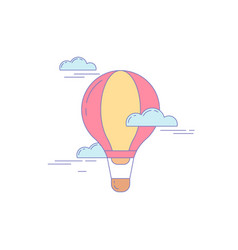 air balloon line icon for landing vector image