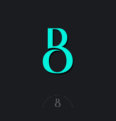b and o combined letters beautiful classic style vector image
