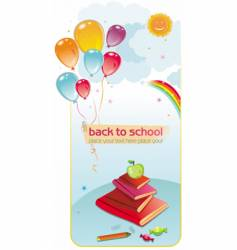 back to school balloons vector image vector image