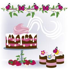 background desserts 2 vector image