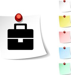 Bag icon vector