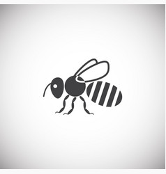 Beekeeping related icon on background for graphic vector