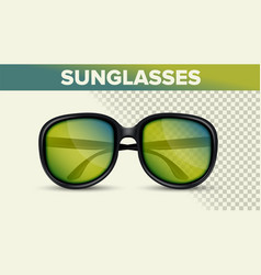 black retro sunglasses trendy 3d shades vector image