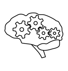 Brain gear vector