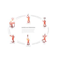 business man presentation - idea presentation vector image