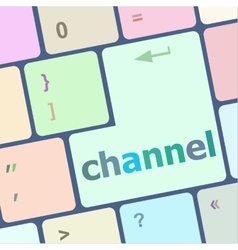 channel button on computer pc keyboard key vector image