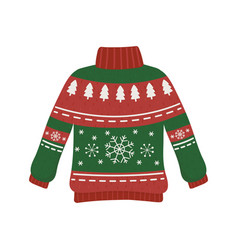 Christmas red and green ugly sweater party vector