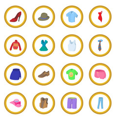 Clothing icon circle vector