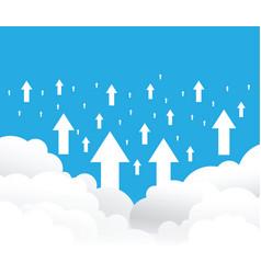 Cloud uploading background vector