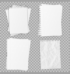 Collection of various realistic white papers vector