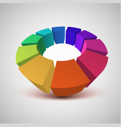 colorful circle 3d vector image